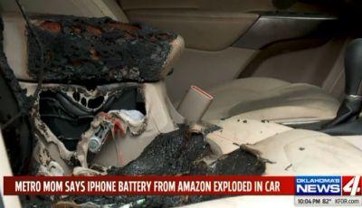 Batteria iPhone difettosa fa bruciare una Jeep