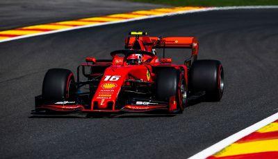 F1 2019, GP del Belgio: la Ferrari torna in vetta nelle libere di Spa-Francorchamps con Leclerc davanti a Vettel