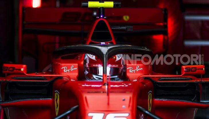 F1 2019: Leclerc con la Ferrari a Monza per il filming day Pirelli - Foto 1 di 9