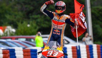 MotoGP 2019, GP della Repubblica Ceca: Marquez piega Dovizioso e vince a Brno, Rossi quinto
