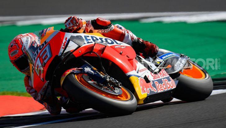 MotoGP 2019, GP di Gran Bretagna: acuto di Marquez nelle libere di Silverstone, poi Vinales. Dovizioso quarto, Rossi 17esimo - Foto 6 di 19