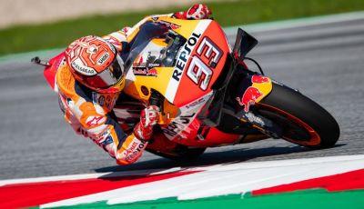 MotoGP 2019, GP d'Austria: Marquez davanti a tutti nelle libere del venerdì, Dovizioso a terra