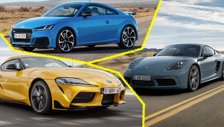 Prova comparativa tra Toyota Supra, Porsche Cayman S e Audi TT RS - Foto 1 di 28