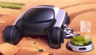 Uomo su Marte: Land Rover lo immagina così