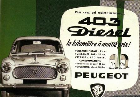 PEUGEOT 403 Diesel – la prima volta  del GASOLIO sotto il cofano della berlina di grande serie - Foto 4 di 8