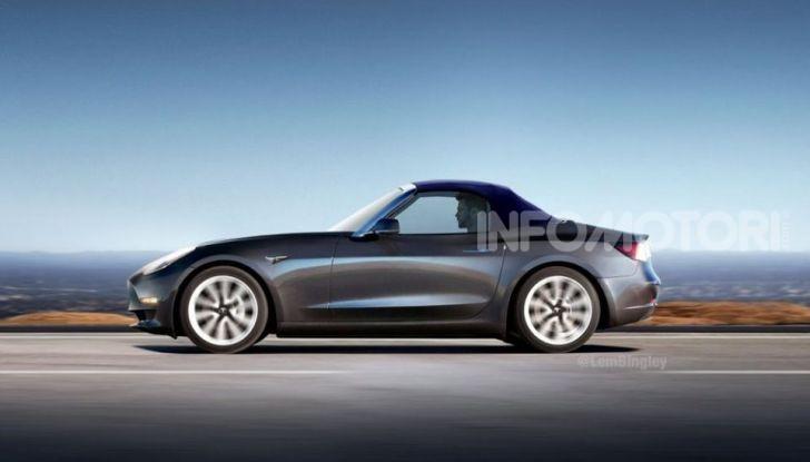 Tesla Model 3 Convertible, arriva la piccola spider elettrica? - Foto 2 di 3