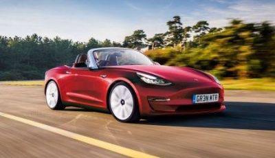 Tesla Model 3 Convertible, arriva la piccola spider elettrica?