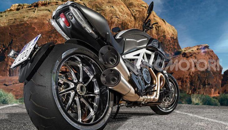 Il gommone posteriore della Ducati Diavel