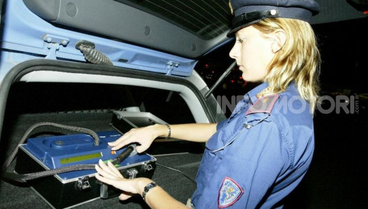 Alcol test è lo strumento della Polizia per la guida stato ebbrezza