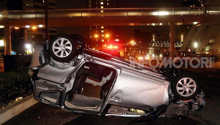 Gli incidenti sono la maggior causa della guida stato ebbrezza