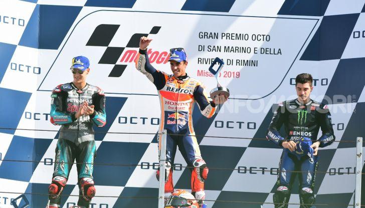 MotoGP 2019: Marquez vince a Misano in volata su Quartararo, terzo Vinales davanti a Rossi - Foto 28 di 35