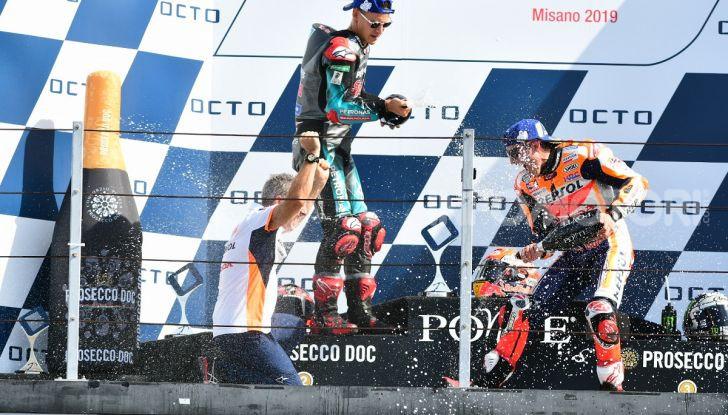 MotoGP 2019: Marquez vince a Misano in volata su Quartararo, terzo Vinales davanti a Rossi - Foto 29 di 35