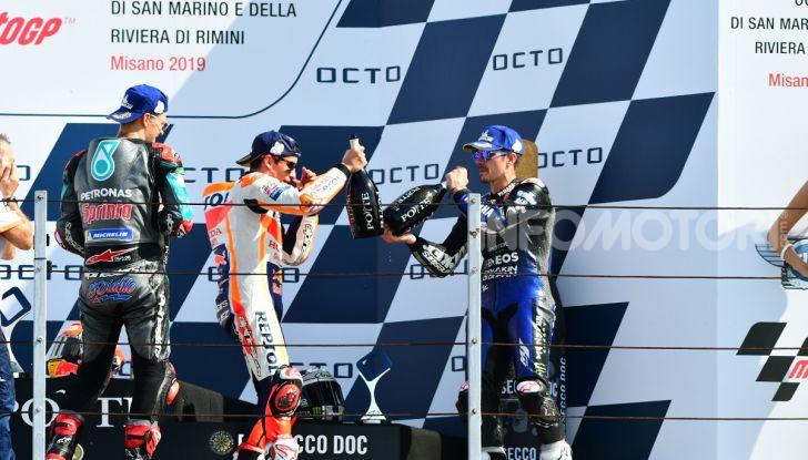 MotoGP 2019: Marquez vince a Misano in volata su Quartararo, terzo Vinales davanti a Rossi - Foto 30 di 35