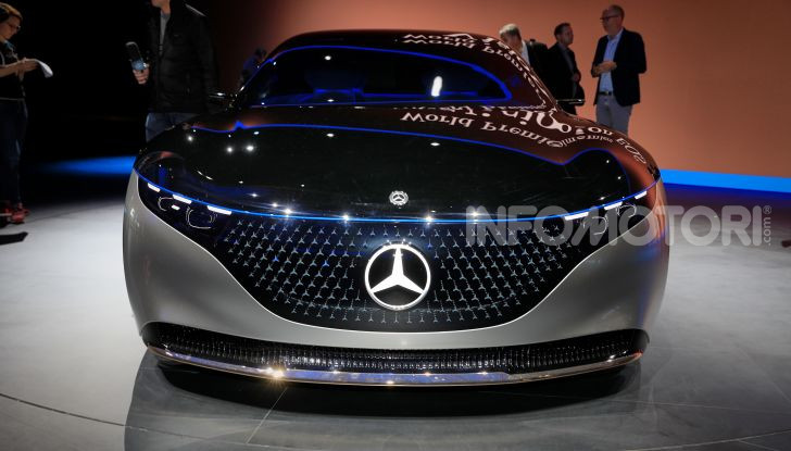 Mercedes-Benz Vision EQS: eleganza, tecnologia e prestazioni full electric - Foto 4 di 30