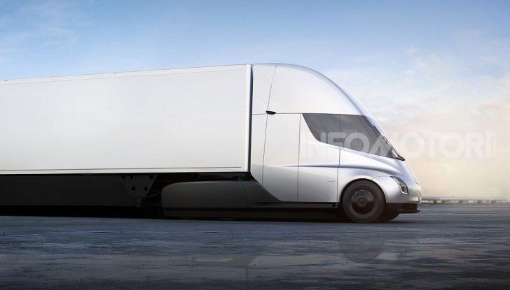 Prime idee di un camion Tesla