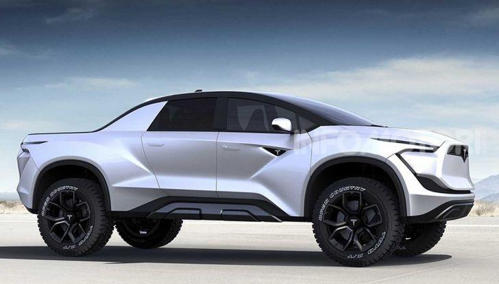 Concept art di un pickup Tesla elettrico