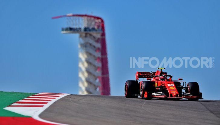 F1 2019, GP degli Stati Uniti: Hamilton si impone nelle libere di Austin davanti a Leclerc e Verstappen - Foto 5 di 9