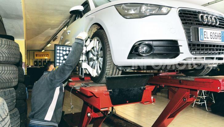 Convergenza gomme Audi meccanico