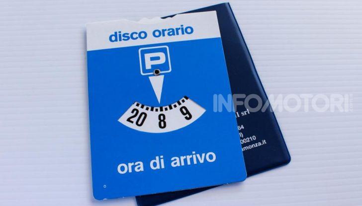 disco orario ufficiale regolamentare blu