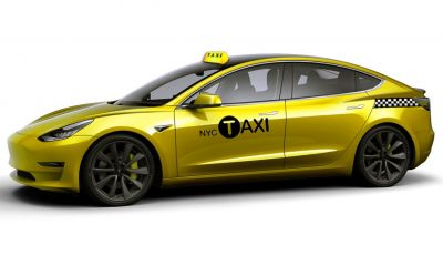 Tesla Model 3 primo taxi elettrico di New York City