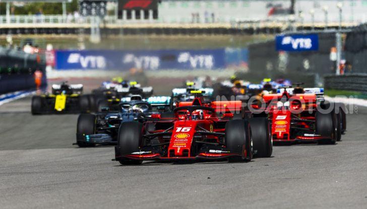 F1 2019 GP Russia Sochi partenza