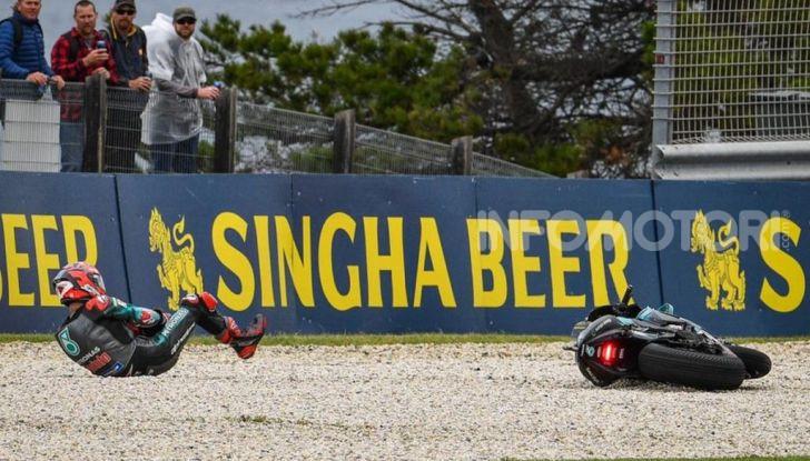 MotoGP 2019 Fabio Quartararo Caduta FP1 Australia