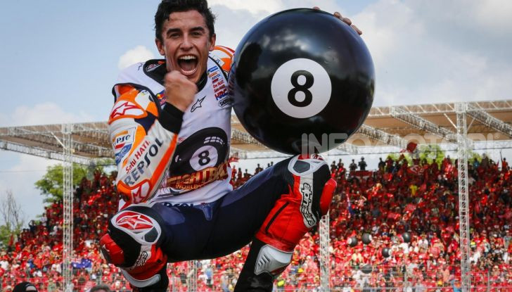 Marc Marquez Campione del Mondo MotoGP 2019 batte Quartararo in Thailandia