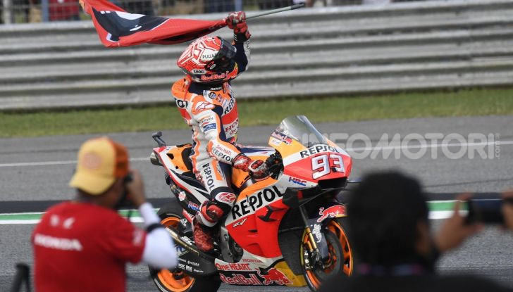 Marc Marquez Campione del Mondo MotoGP 2019 vittoria Chang International Circuit