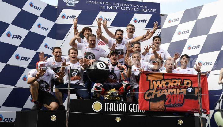 Marc Marquez Campione del Mondo MotoGP 2019 trionfa in Thailandia