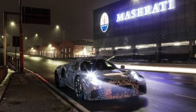 Nuova sportiva Maserati, le immagini del prototipo