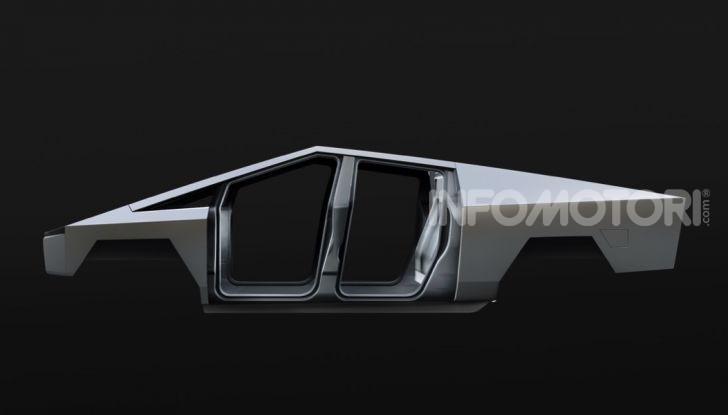 Tesla Cybertruck: il pick-up elettrico tagliato col machete - Foto 10 di 10