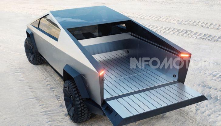 Tesla Cybertruck: il pick-up elettrico tagliato col machete - Foto 6 di 10