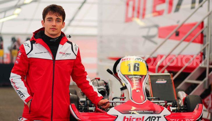 Karting: il ferrarista Charles Leclerc fonda un team di go-kart con BirelART - Foto 1 di 11