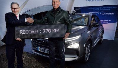 Hyundai Nexo da record: 778 km con un pieno di idrogeno