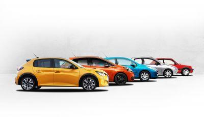 Peugeot: dalla 205 alla nuova 208, ecco l'evoluzione dagli anni 80 ad oggi