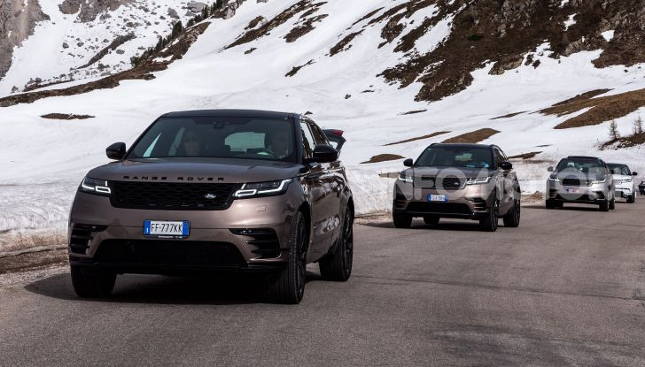 Land Rover Velar raduno per Amatrice