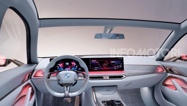 BMW Concept i4: la prima gran coupé 100% elettrica del brand tedesco - Foto 13 di 16