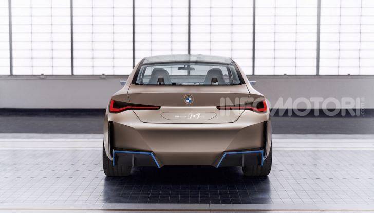 BMW Concept i4: la prima gran coupé 100% elettrica del brand tedesco - Foto 8 di 16