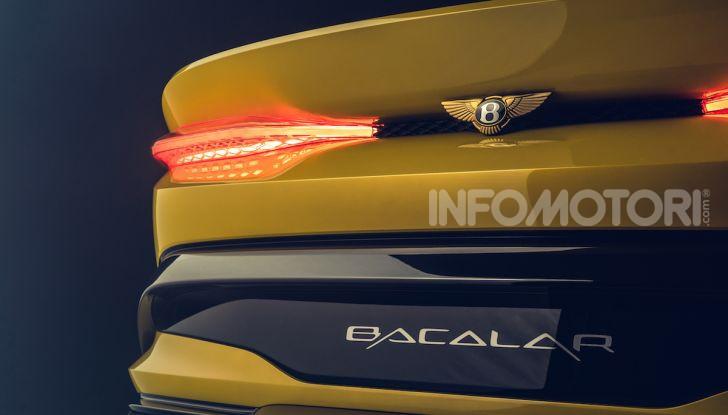 Bentley Mulliner Bacalar: una super car di lusso per pochissimi - Foto 18 di 24