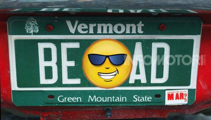 Targhe auto personalizzate, nel Vermont arrivano quelle con le Emoji - Foto 1 di 15