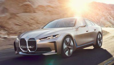 BMW i4 Concept 2020: Gran Coupè elettrica da 530 cavalli