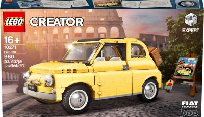 Fiat 500 LEGO Creator Expert, 960 pezzi per la citycar torinese