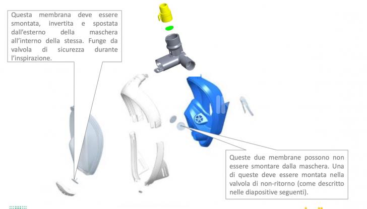 Ingegno e cuore italiano: Dallara trasforma una maschera da sub in un respiratore - Foto 4 di 4