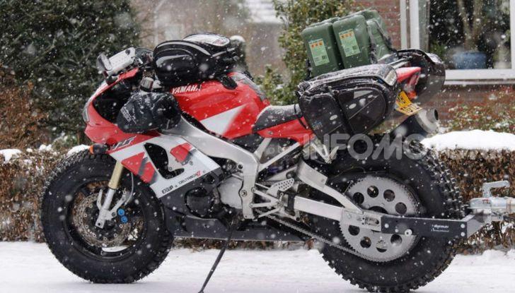 Una Yamaha R1 per raggiungere il Polo Nord - Foto 3 di 4