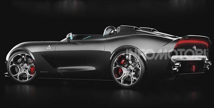 Alfa Romeo Barchetta del futuro, rendering e dettagli - Foto 2 di 7