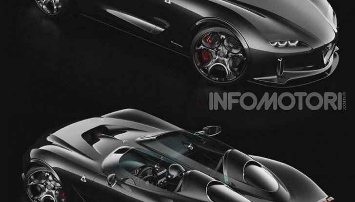 Alfa Romeo Barchetta del futuro, rendering e dettagli - Foto 5 di 7