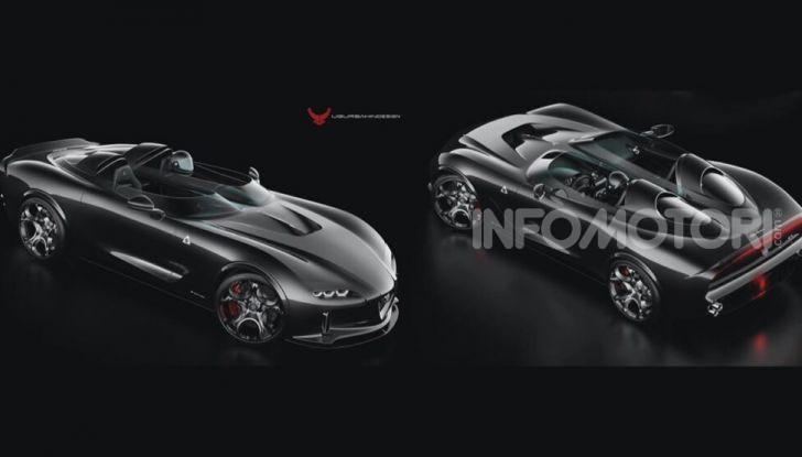Alfa Romeo Barchetta del futuro, rendering e dettagli - Foto 1 di 7