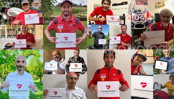 La nuova sfida di Ducati i chiama #raceagainstCovid - Foto 2 di 5
