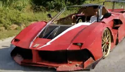 Dal Vietnam arriva la Ferrari FXX K Evo di cartone