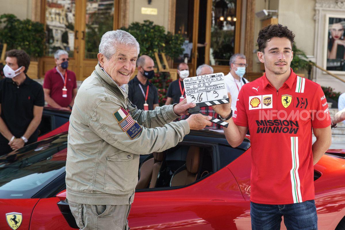 Leclerc in Ferrari a Monaco, ma per un cortometraggio di Lelouch